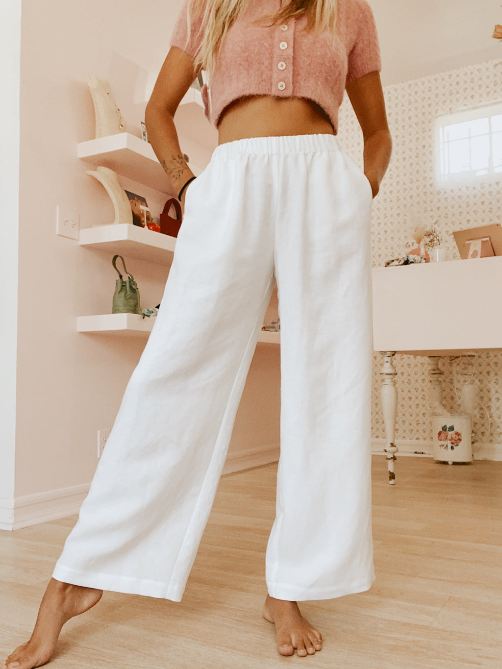 Hawaii Pant - White Linen