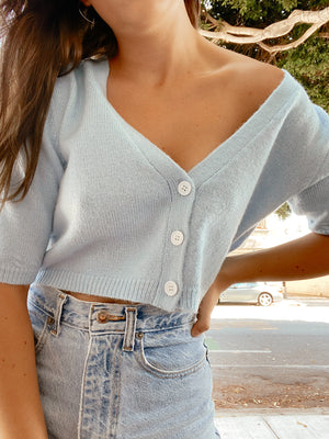 Weekend Sweater - Corn Blue