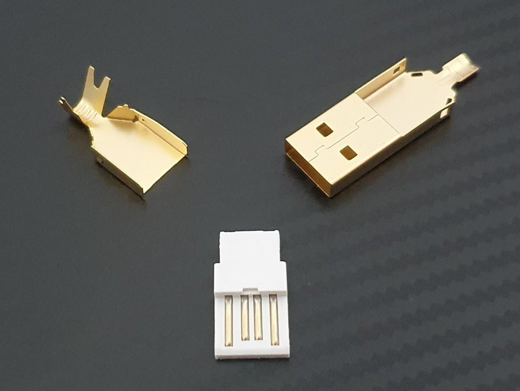 USB 2.0 Type A Connector- Gold