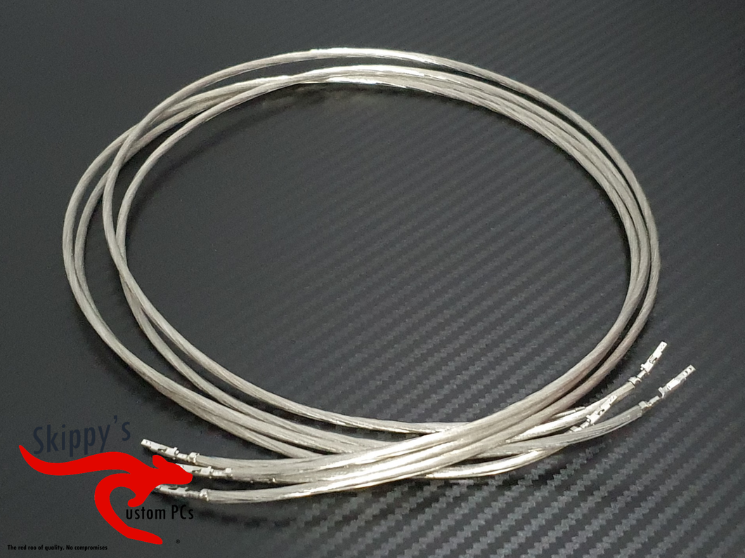 Pre-Cut and Crimped Wire- 15 AWG Silver