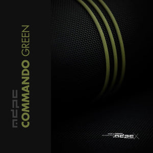 Sleeving per meter- Commando-Green XTC