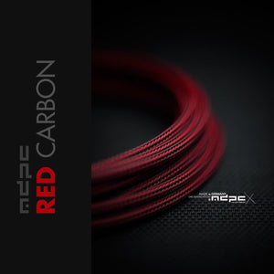 Sleeving per meter- Red-Carbon SML