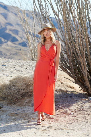 OCOTILLO WRAP DRESS - Sunset