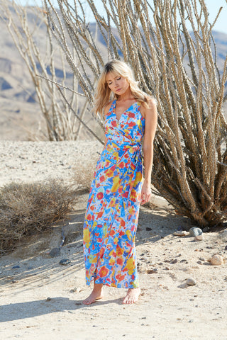 OCOTILLO WRAP DRESS - Cosmos