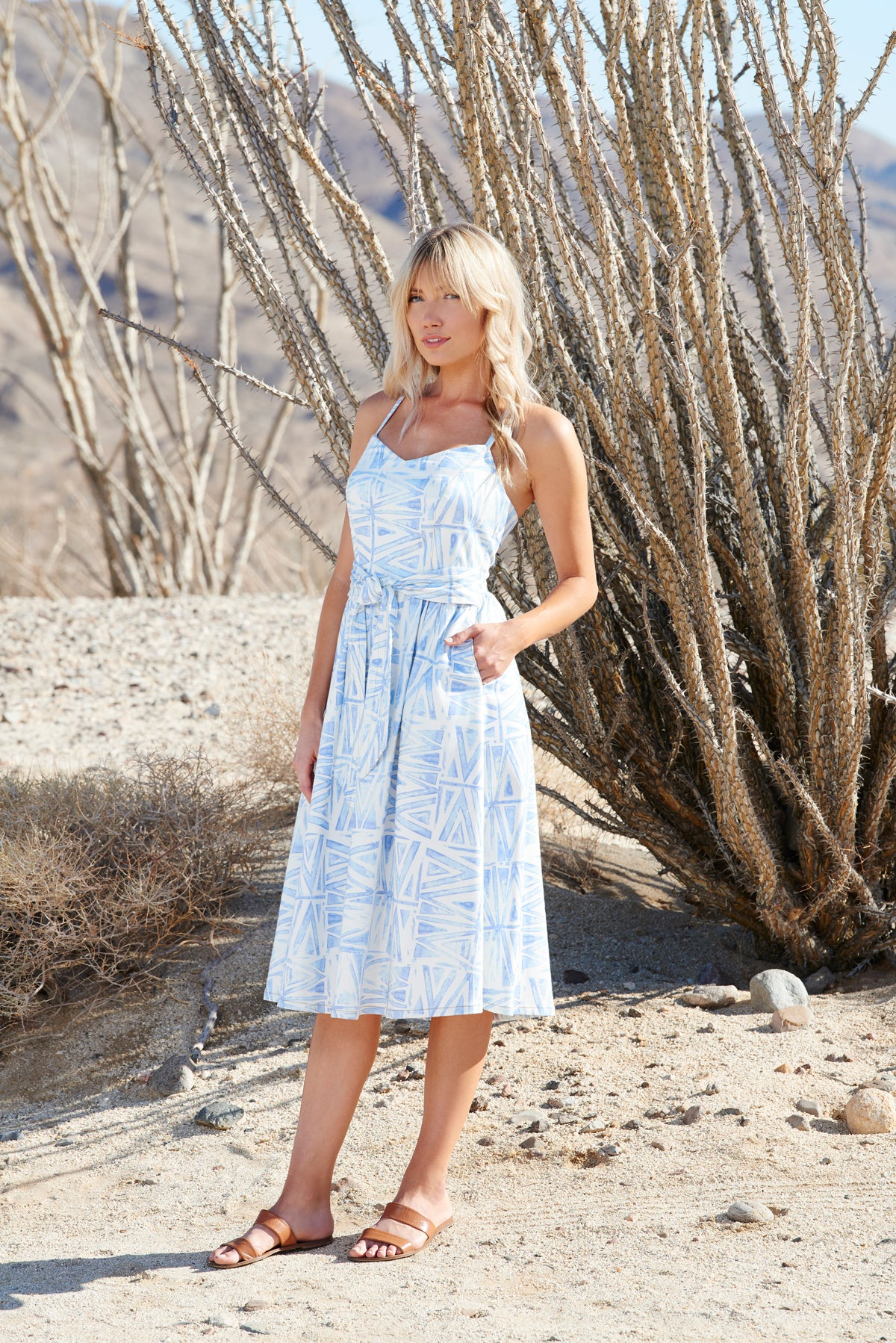 PALM CANYON DRESS - Viva Sky