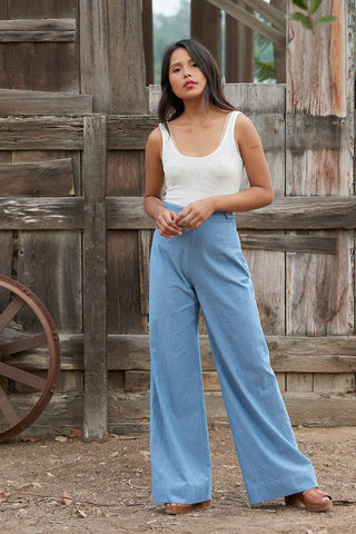 GALLERY PANT - Chambray