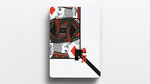 Offset Orange Playing Cards
