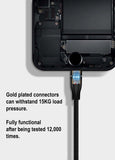 Gold Plated Micro USB Charging Cable - Whiztek Ltd