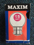 Maxim BC B22 15w Small Coloured Bulb - Whiztek Ltd