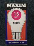 Maxim BC B22 15w Coloured Bulb - Whiztek Ltd
