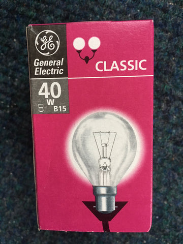 General Electric BC B15 B22 Small Bulb - Whiztek Ltd