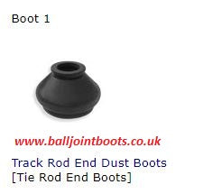 Boot 1 Track Rod End Dust Boots (Tie Rod End Boots)