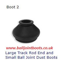 Boot 2 Large Track Rod End and Small Ball Joint Dust Boots (1 pair)