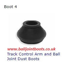 Boot 4 Track Control Arm and Ball Joint Dust Boots (1 pair)