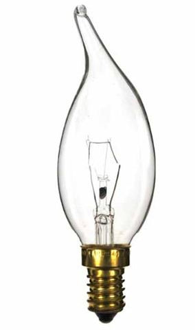Bell ES E14 40w Clear Candle Bulb