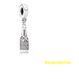 Champagne Prosecco Wine Celebration Bottle Charm