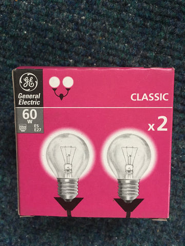 General Electric ES E27 Round Bulb - Whiztek Ltd