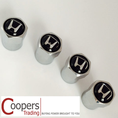 Honda Chrome Dust Valve Caps - Whiztek Ltd