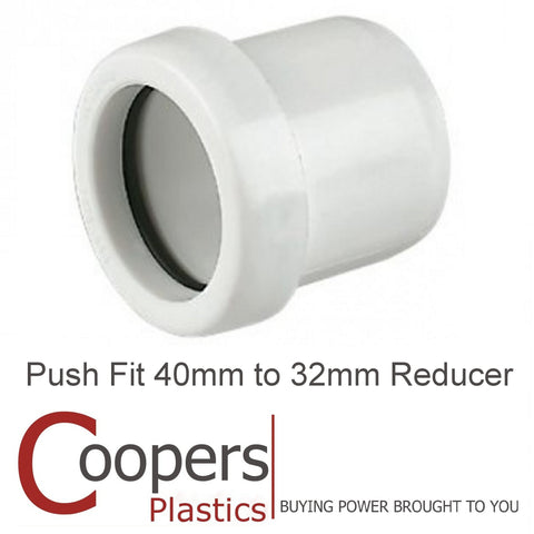 Push Fit waste 40mm to 32mm Reducer