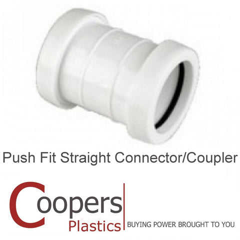 Push Fit Waste Straight 32mm 40mm Connector Coupler