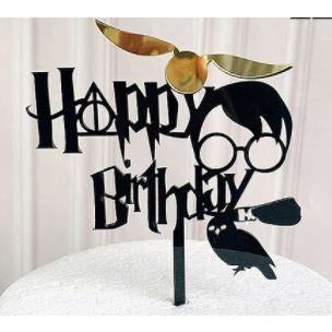 CAKE TOPPER HAPPY BIRTHDAY HP