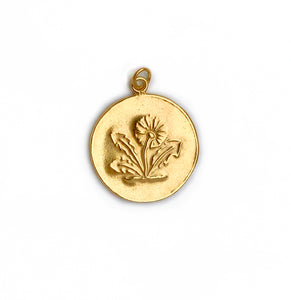 Dandelion Pendant - Gold Plated