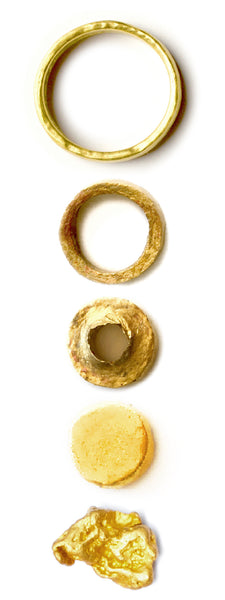 Good Ring- From One Natural Gold Nugget