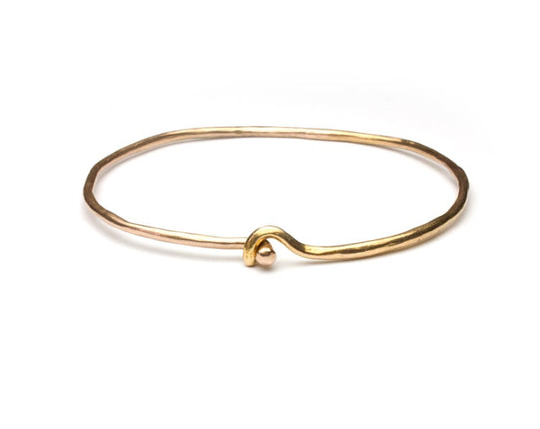 Oko Bangle ~ Solid 18k Gold, 9k
