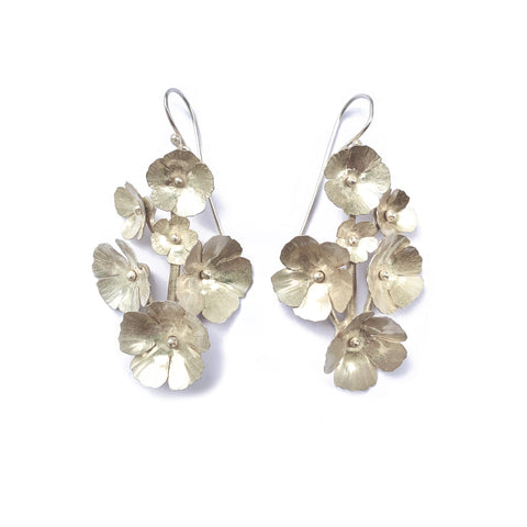 Fiori Earrings- 6 Flowers- silver- small