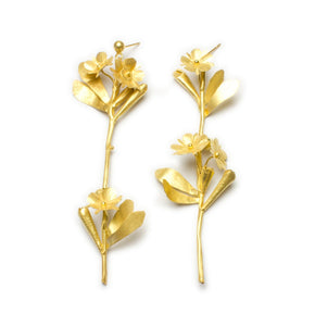 Grande Sprig Earrings - Golden