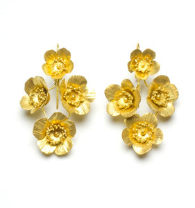 Fiori Springtime Earrings - 4 - Vermeil