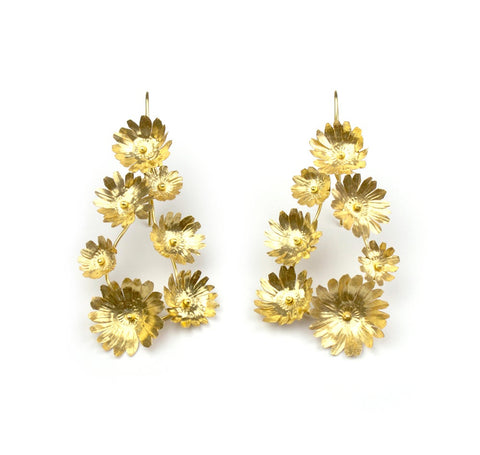 Fiori Earrings - 7 Golden