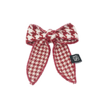 Houndstooth Bow Statement Clip