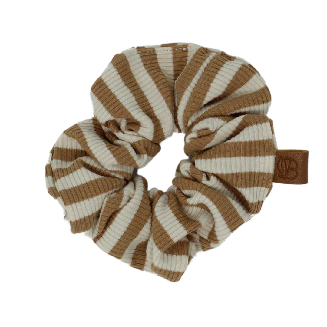 Ribbed Striped Scrunchies