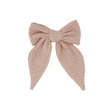 Chunky Woven Statement Bow Clips
