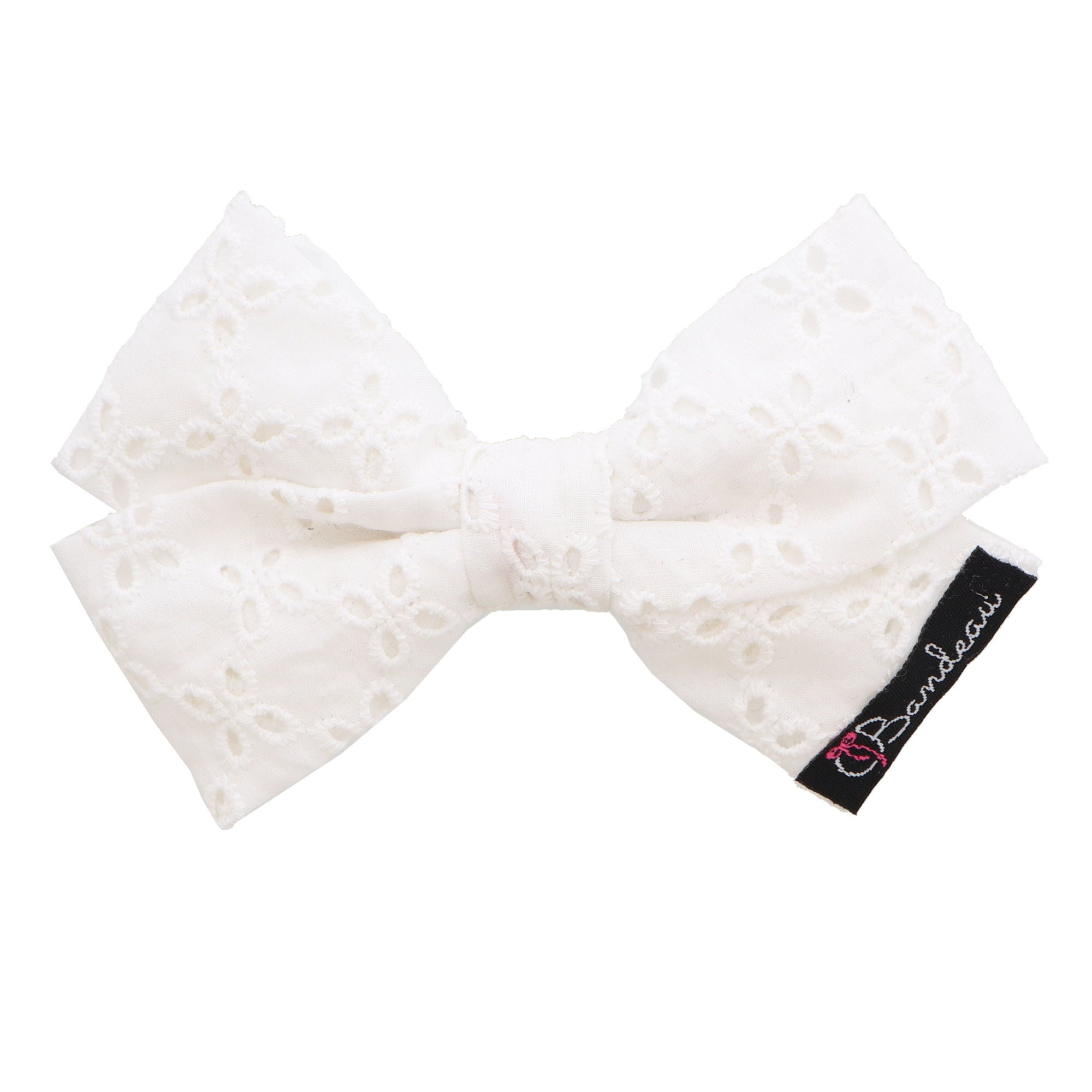Eyelet Bow Hair Clips