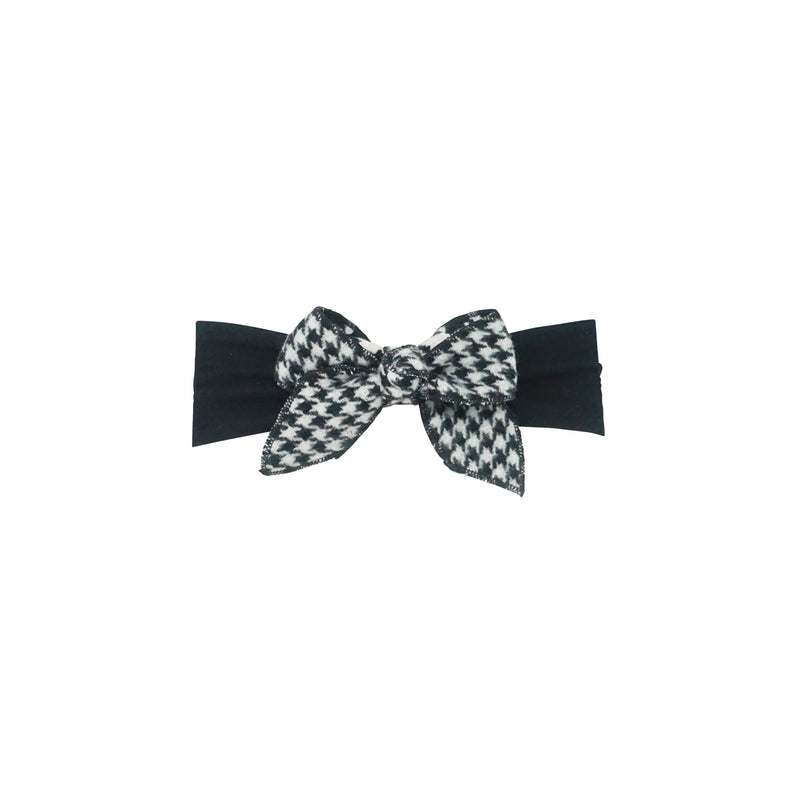 Houndstooth Bow Baby Band