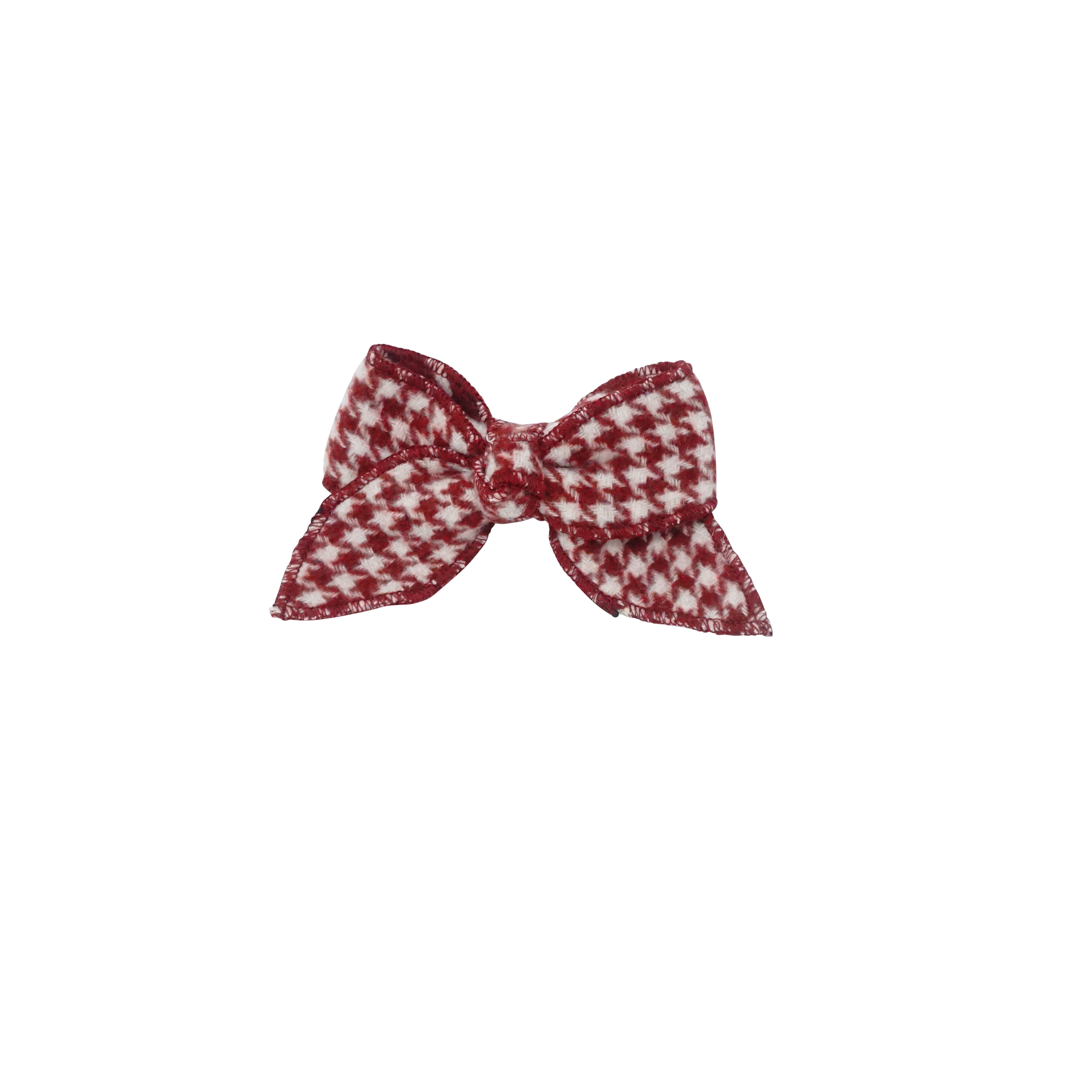 Houndstooth Bow Hair Clip - Small