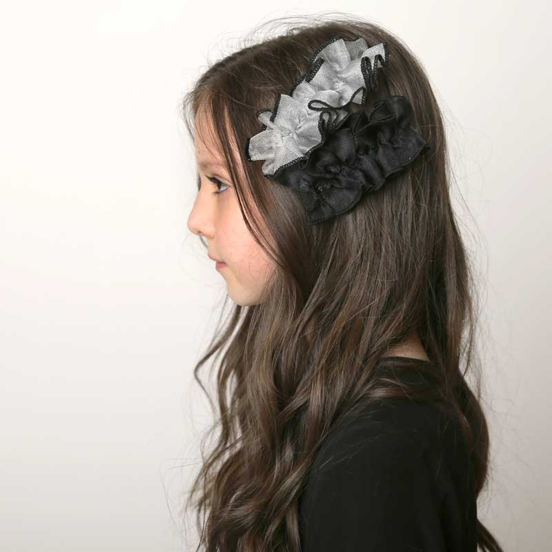 Sale! Edged Tulle Ruffle Hair Clip