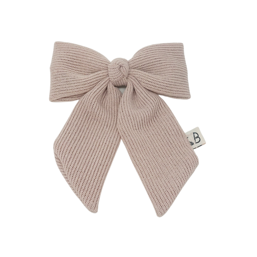 Summer Crochet Knit Statement Bow Clip Large