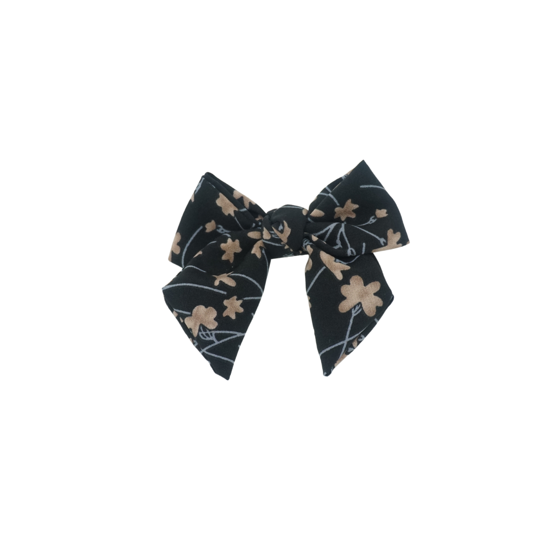 Summer Floral Mini Bow Clip