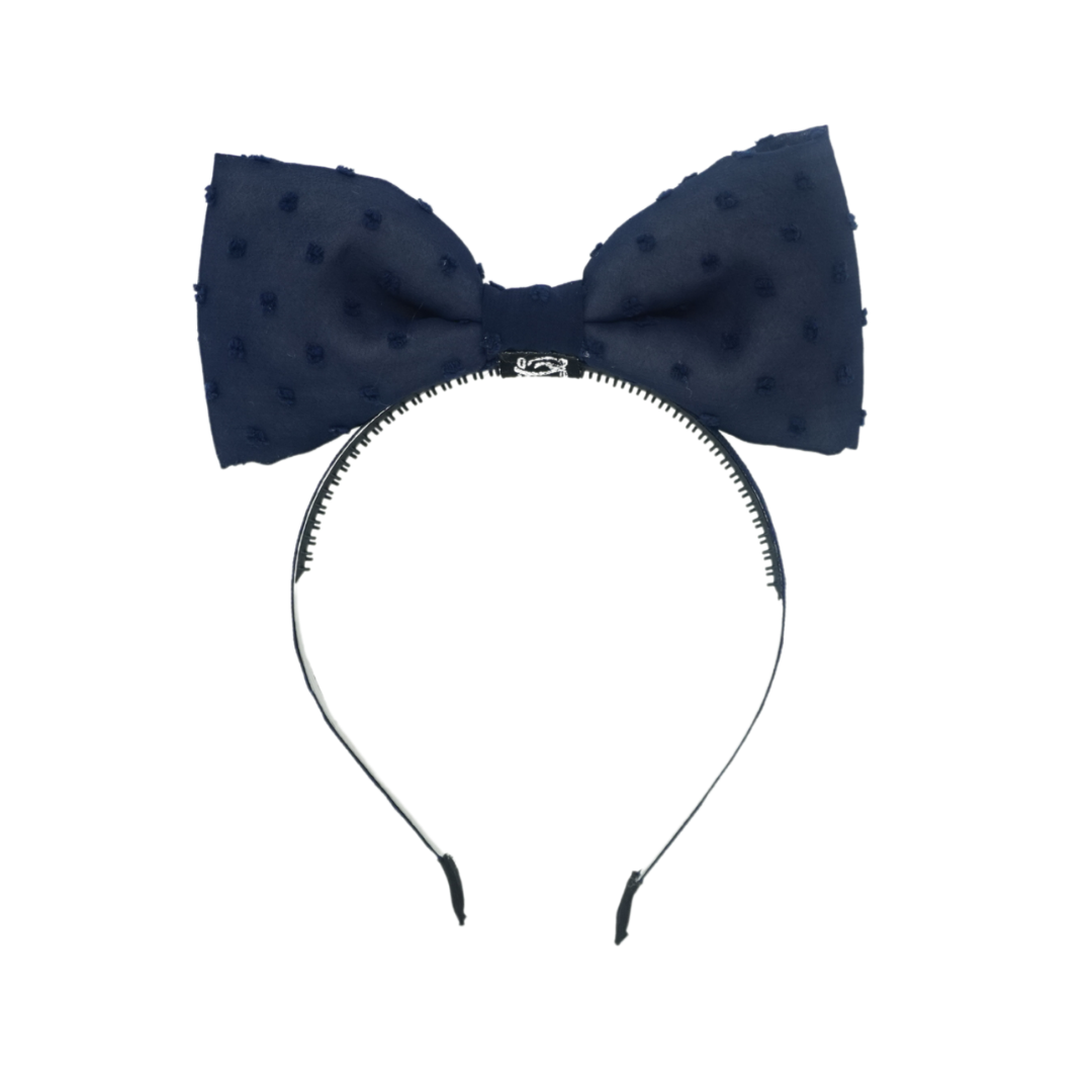 Swiss Dot Bow Headband