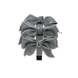 Triple Taffeta Bow Headband