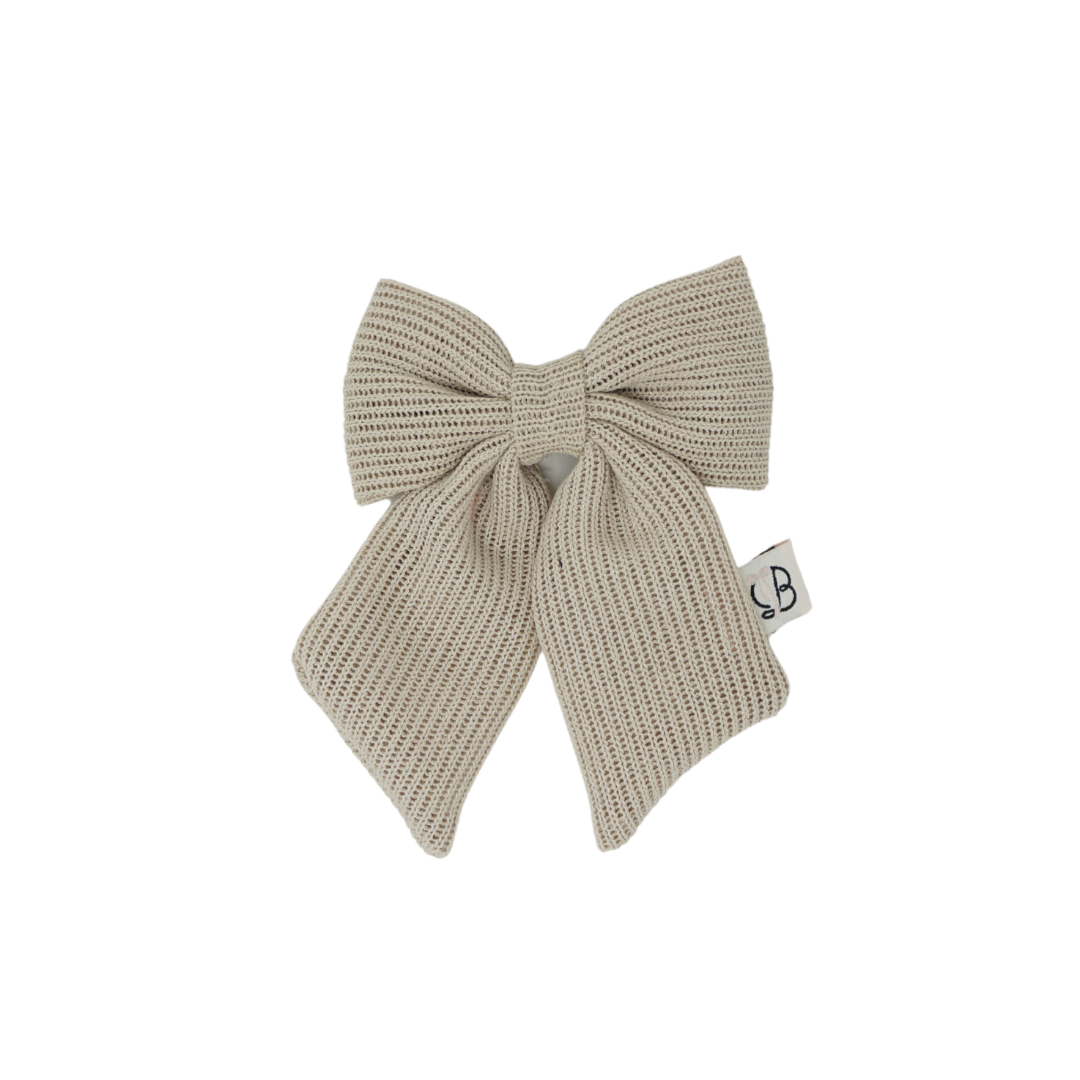 Summer Crochet Knit Statement Bow Clip Medium