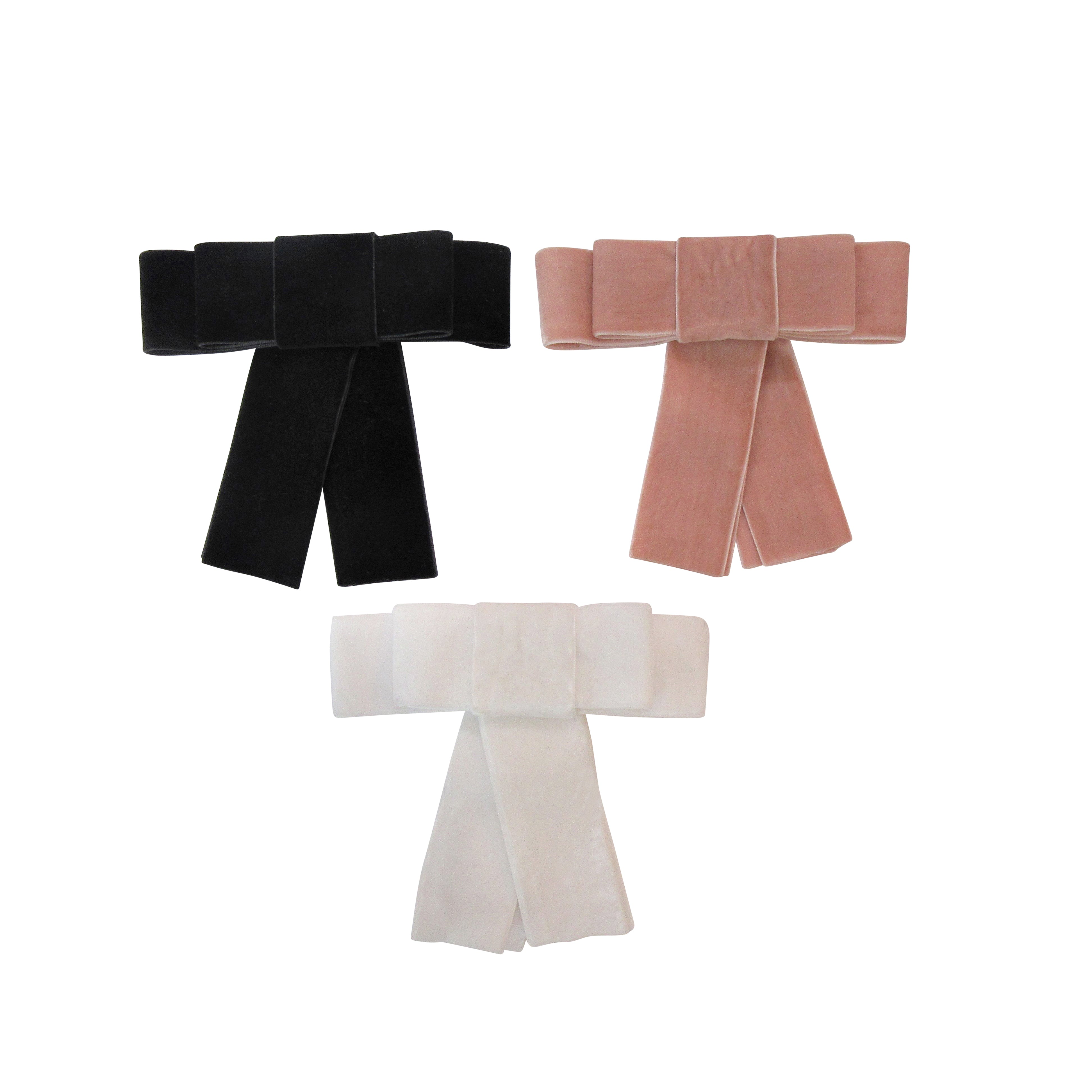 Velvet Bow Statement Clips