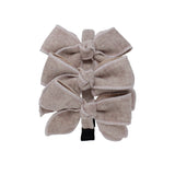 Triple Wool Bow Headband