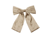Silk Bow Statement Clips