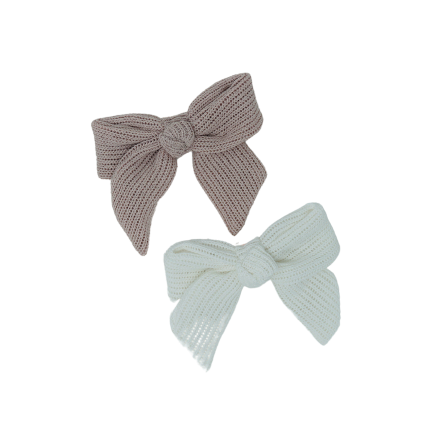 Summer Crochet Knit Small Bow Clip