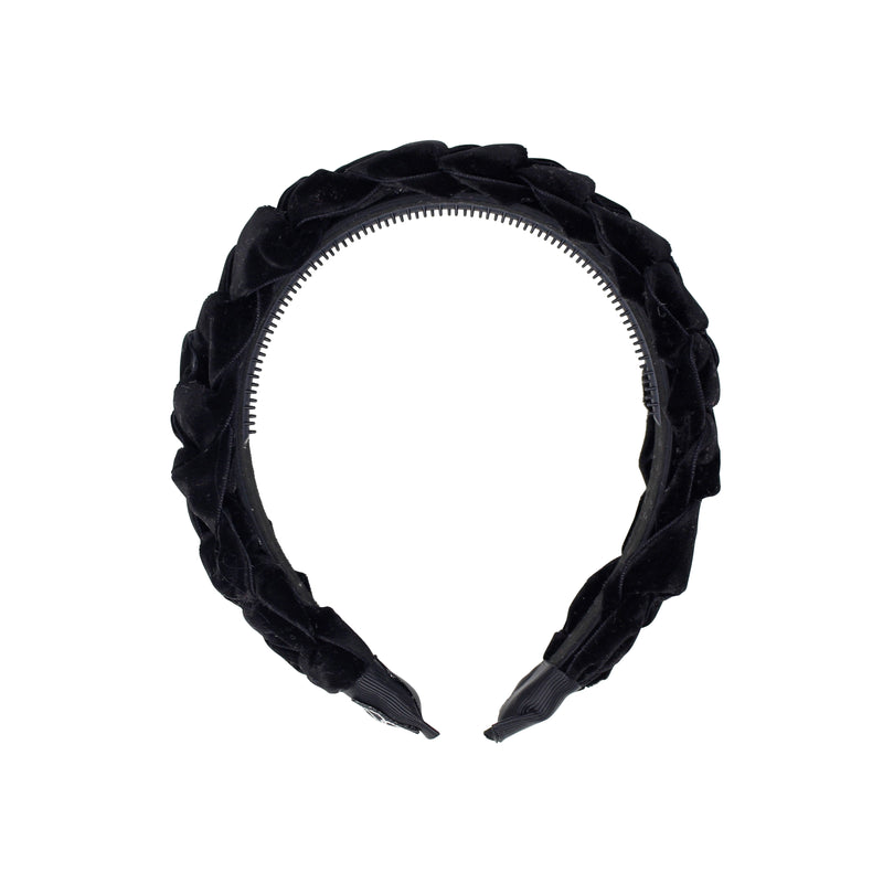 Velvet Braided Wide Headband