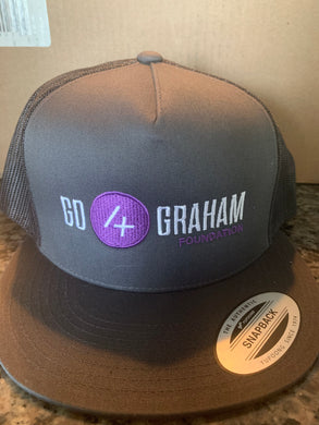 Go4Graham Foundation Dark Grey Flat Brim Trucker Hat (The Classics)